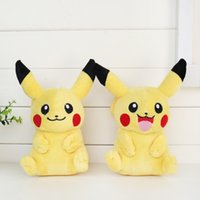 Wholesale Pikachu Plush dolls cm inch New Poke plush toys cartoon poke Stuffed animals toys soft Christmas toys best Gifts