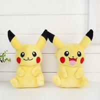 achat en gros de cadeaux peluches-Pikachu Poupées en peluche 20cm (8inch) Nouveau Poke jouets en peluche poke jouets animaux peluche jouets de Noël doux meilleurs cadeaux