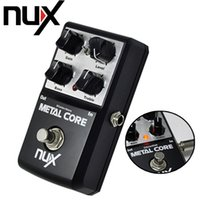 Wholesale NUX Metal Core Distortion Effect Pedal True Bypass Guitar Effects Pedal Band EQ Tone Lock Preset Function