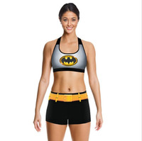 Animal Print batman logo shirt - Batman Camisoles The Dark Knight Tanks Shirts Running Singlet Vest Black Gold Smiles Batman Logo Camisole Sports Tank Tops Print Sleeveless