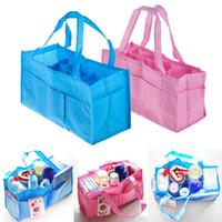 baby bottle totes - Portable Mummy Bag Bottle Storage Multifunctional Separate Bag Nappy Maternity Handbag Baby Tote Diaper Organizer