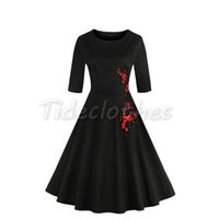 audrey hepburn style - Audrey Hepburn Style s s Vintage Inspired Rockabilly Swing Sleeves Evening Party Dresses for Women