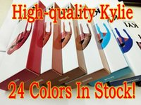Wholesale 24colors High Quality Kylie jenner Lip Kit Matte Lip Gloss Lipliner Have Serial Numbers Dirty Peach Love Bite SPICE MOON PUMPKIN TRICK