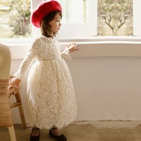 Wholesale 2017 Spring New Girls Long sleeved Lace Dress Korean Children s Clothing Big Girl Princess Dress