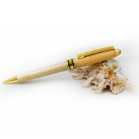 arts parts - 5 pieces wooden recycled Eco pen high quality wood pen ballpoint pens with gold parts and drop shipping