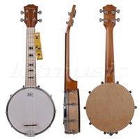 banjo uke - Kmise Banjo Ukulele Banjolele String Ukelele Uke Concert Inch Size Maple Wood
