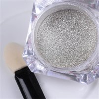 Wholesale g Box Mirror Nail Glitter Powder Shinning Sliver Gold Glitters Nail Art Chrome Pigment Nail Dust Set for DIY Decorations