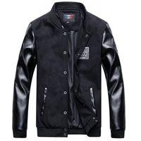 Men s woolen coat Preços-Palácio kanye oeste queda nova lã casaco jaqueta de lã masculina masculina casaco de couro jaqueta colete de beisebol roupas masculinas