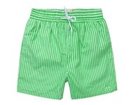Wholesale 2016 New Arrived Men s beach shorts Casual quick drying stripe shorts Male sport Summer Swimming pants