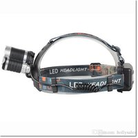 Wholesale 6000Lm Waterproof CREE XML T6 Zoom LED Headlight Headlamp Head Lamp Light Zoomable Adjust Focus For Bicycle Camping Hiking