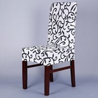 Wholesale New Paddy Stretch Short Removable Dining Room Office Stool Chair Cover Slipcovers
