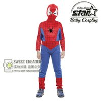 amazing duck - High Quality Boys Amazing Spiderman Suit Kids Halloween Marvel Cosplay Costumes CM Superhero Jumpsuit Stage Wear