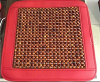 beaded seat cushion - New Sunzm High quality Superfine leather rosewood Car Home Chair Cover Tan Beaded Cool Summer Car seat cover Bead Seat Cushion
