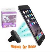 Soporte magnético universal del soporte del teléfono móvil del montaje del coche soporte del soporte 360 imán del montaje de la rotación para iphone7 6s Samsug Smartphones