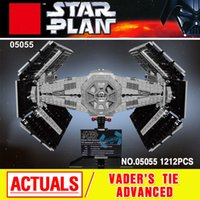 Wholesale 05055 Star War Series The Rogue One USC Vader TIE Advanced Fighter Set Building Blocks Bricks Educational Toys
