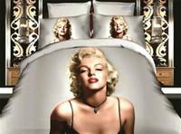 Cheap Marilyn Monroe 3D Bedding Sets Duvet Cover Set Bed Linen Comforter Cover Duvet Cover Sheet Pillowcase Queen Size