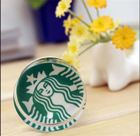Wholesale Crystal Rubber Stamp Art Decor Round Starbucks Card Diary Scrapbook Stamper Craft Gifts