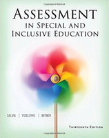Wholesale hot selling new book Assessment in Special and Inclusive Education th Edition