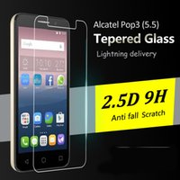 Wholesale For Alcatel fierce Tempered Glass Screen Protector Anti slip Screen Protector Film D H Explosion proof For ZTE Zmax Pro