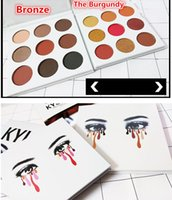 Wholesale Kylie Eyeshadow Kyshadow Kylie Bronze Palette kylie THE BURGUNDY PALETTE Eyeshadow Kylie Limited Birthday Edition Colors DHL free ship