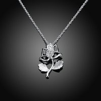 asian flower girl - Female necklaces pendants woman sliver plated lucky pendant necklace women jewelry for girls accessories jewelrys rose NK