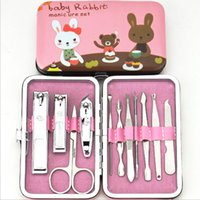 Wholesale Scissors For Nail Art - Cartoon Nail Clipper Kit Nail Manicure Sets Newest Scissors Tweezer Grooming Set Nail Art Kits Gifts For Her Xmas