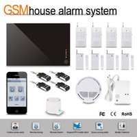 Wholesale Wireless GSM Home Burglar Security Safe Alarm System Door Detector Systems Remote controller Wireless GSM SMS IOS Android APP