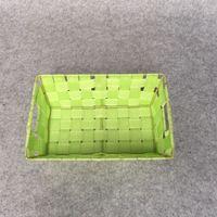 Wholesale 2016 Hot All handmade New design multifunction fruit decorative basket PP belt imitation rattan storage baskets
