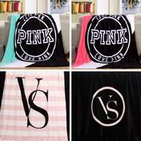 air plane travel - 4 Styles VS Pink Blankets Coral Fleece Blanket VS Sofa Bed Plane Travel Air Condition Blankets Catwalk Dimensional Beadding PPA632