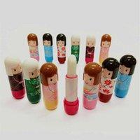 Wholesale Portable Women Beauty Professional Cosmetic Lipstick Makeup lipgloss Lovely Kimono Doll Brand Makeup Lipsticks