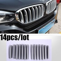Wholesale For years bmw x5 x6 Silver Front Grille Trim Strips Auto Cover Sticker Decoration