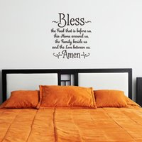 bible quote life - 57x64 cm English Bible Quotes Proverbs Bless Amen Vinyl Wall Stickers Removable Art Mural for Home Decoration Kids Bedroom