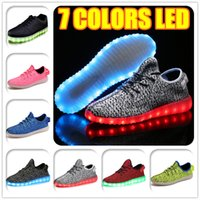 Wholesale Hot Melbourne Shuffle Dance LED Light Rio Olympic Unisex Lace Up Luminous Shoes Sports Sneaker Casual Skateboard Ghost dancing Cheap