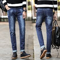 Wholesale Men s jeans in four seasons fashion cowboy style brand high quality elastic jeans of the famous designer blue