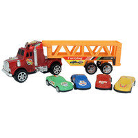 Wholesale Kids Toys Car Carrying Model Truck Trailer With Small Cars Dual Layer Big Baby Trailers Car Toy Children s Gift cm