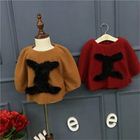 baby trench - New style Spring Autumn Korean Girls Fashion woolen cloak Kids Trench Coats Wool Coat Children Clothes Clothing baby tops wear Lovekiss A22