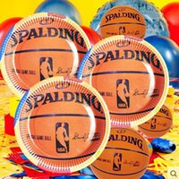 Birthday basketball birthday decorations - 68Pcs PASAYIONE Kid Boy Baby Birthday Decoration With Kawaii Basketball Pattern Disposable Party Set Paper Plate Hats Accessory
