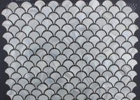 Wholesale Oyester White Fish Scale Fan Mosaic Backsplash Mother of Pearl Shell Tiles
