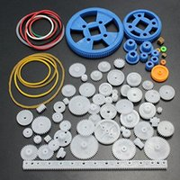 Wholesale 80Pcs Plastic DIY Robot Gear Kit Gearbox Motor Gear Set For DIY Car Robot