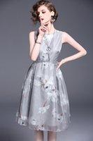 achat en gros de couleur grise robe de soirée-Nouvelle femme Petite bowknot douce sans organe en organza Robe en soie Mode Vêtements de soirée rose / gris couleur no163