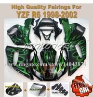 Wholesale High quality black green flame fairing kits Fit for YAMAHA YZFR6 YZF R6 YZFR6 k38z1