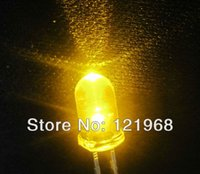 Wholesale Candle LED diode MM Yellow flicker round led V