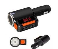 12V MP3 / MP4 Player Black 2016 BT039 Bluetooth Handsfree Car MP3 Player FM transmitter Radio Adapter In-Car Modulator Cigarette Lighter Dual USB car charger