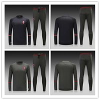 Wholesale Top quality Training suit A Men AC MILAN sport wear Italy Training Soccer suit Soccer sets Serie A football Jacket pants