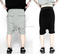big mens pants elastic waist - 2017 men summer spring summer fashion korean short big mens urban clothing black grey plus size shorts low rise men shorts