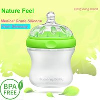 Wholesale 160ml Medical Grade Silicone Baby Feeding Bottle BPA Free Breast Feeling Patented Design