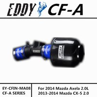 Wholesale For Mazda Axela L CX EDDYSTAR CF A Carbon Fiber Cold Air Intake System Air Filter Air Intake KIT
