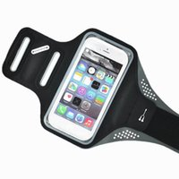 Wholesale Retail Sale Ultra Thin Double Buckle Sports Running Armband Case with Earphone Holes Key Holder Arm Pouch for iPhone