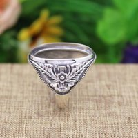 art deco ring settings - Antique Vintage Art Deco x24mm Oval Cabochon Semi Mount Engagement Ring Flower Fine Jewelry Fine Silver Wedding Ring Setting