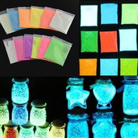 Wholesale New Super Bright Glow in the Dark Environmental Fluorescent Powder DIY Glow Pigment